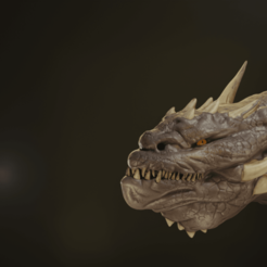 Download 3D printer designs Dragon Head Bust, Khatri3D