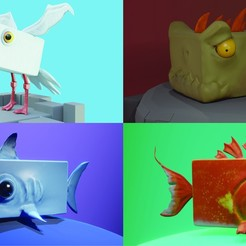 0.jpg Download STL file Stylized Creatures PACK Low-poly • Model to 3D print, Khatri3D