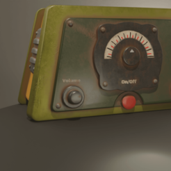 Download 3D printing designs Rusty Radio Low-poly , Khatri3D
