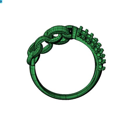 Matrix80_2019-06-10_19-20-48.png Télécharger fichier OBJ gratuit Bague de Chaîne avec Pierres Gemmes • Design pour impression 3D, Khatri3D