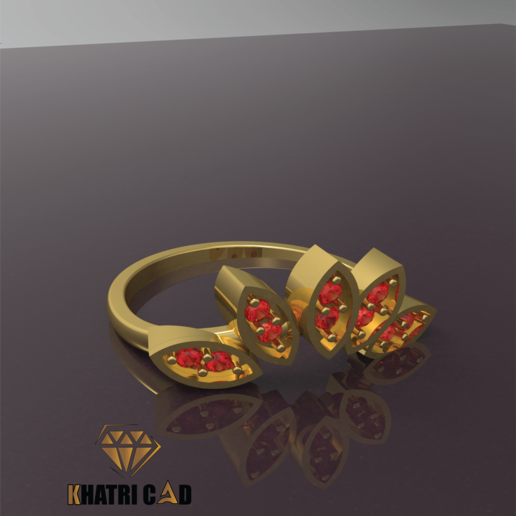Download free STL Marquise ring, Khatri3D