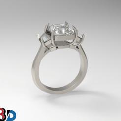 1.png Télécharger fichier STL Bague de fiançailles • Objet à imprimer en 3D, Khatri3D