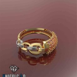 Download free 3D print files Chain Ring with Gemstones, KhatriCad
