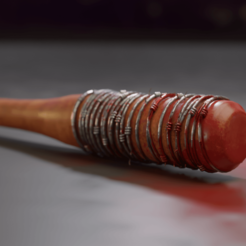 1.png Download STL file Negan Bat Lucille • 3D printer design, Khatri3D