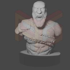 KRATOS1.png Download STL file KRATOS - GOD OF WAR • 3D printing model, AGEsculturas3d