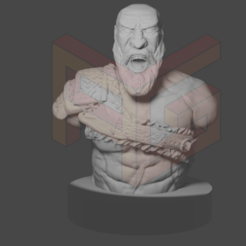 KRATOS1.png Descargar archivo STL KRATOS - GOD OF WAR • Plan imprimible en 3D, AGEsculturas3d