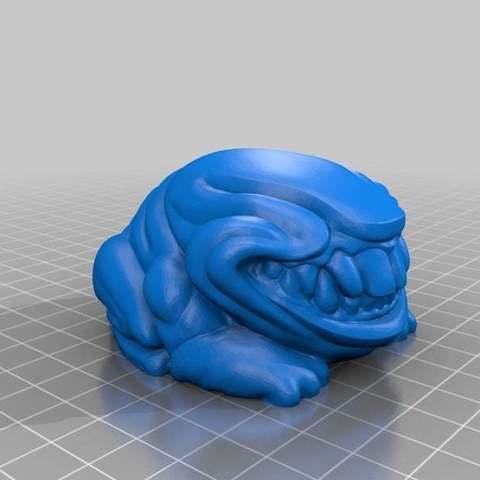 Télécharger fichier STL gratuit Grenouille Fiend Flat • Modèle à imprimer en 3D, LydiaPy