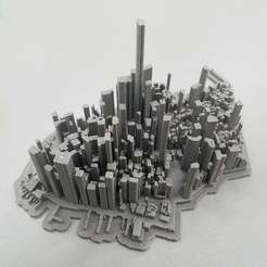 Download free STL file Lower Manhattan Cityscape • 3D printing model, LydiaPy