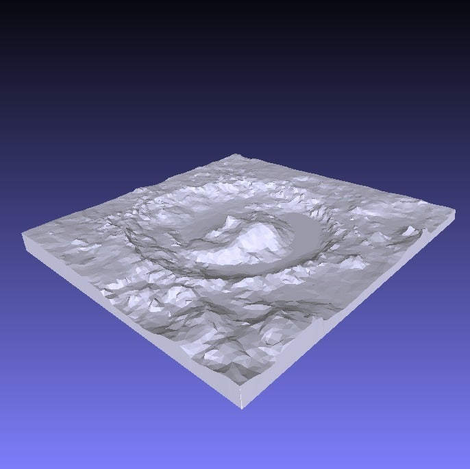 gale_crater_QD00_display_large.jpg Download free STL file Gale Crater, Mars • 3D printing object, LydiaPy