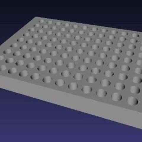 Télécharger fichier impression 3D gratuit plaque de microtitration standard de 96 puits, LydiaPy
