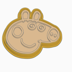 PEPPA B.png Download STL file PEPPA PIG - COOKIE CUTTER • Model to 3D print, StratOasiS