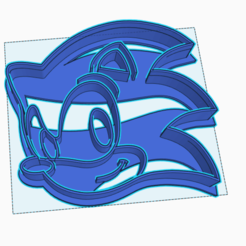 Download 3D printing designs SONIC COOKIE CUTTER, StratOasiS