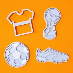 A.jpg Download STL file FOOTBALL COOKIE CUTTER (SET OF 4) • 3D printer design, StratOasiS