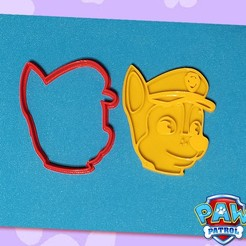 B.jpg Download STL file PAW PATROL - SET OF 3 COOKIE CUTTERS • Object to 3D print, StratOasiS