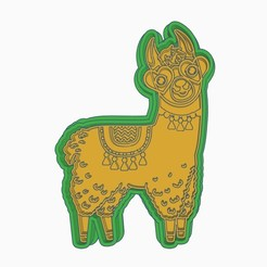 C1.jpg Download STL file LLAMA COOKIE CUTTER (C) • 3D printer object, StratOasiS