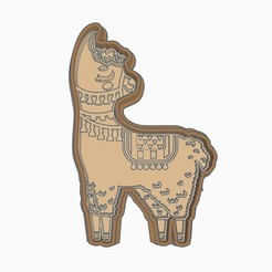 D1.jpg Download STL file LLAMA COOKIE CUTTER (D) • 3D printing object, StratOasiS