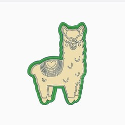 Download 3D printer model Llama Cookie Cutter (A), StratOasiS