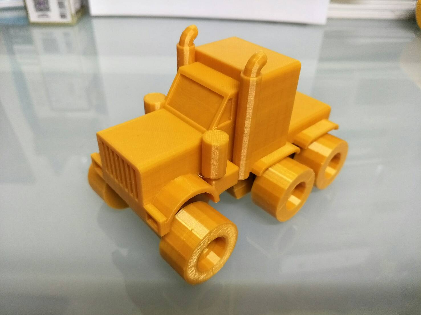 34813.jpg Download STL file American truck (no container) • Template to 3D print, Mechanic