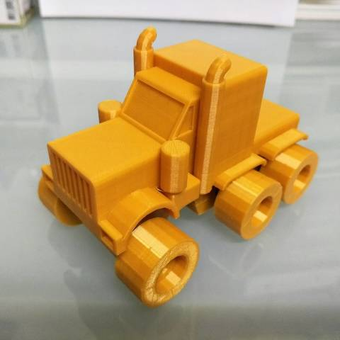 Download free 3D printing files American truck (no container), Mechanic