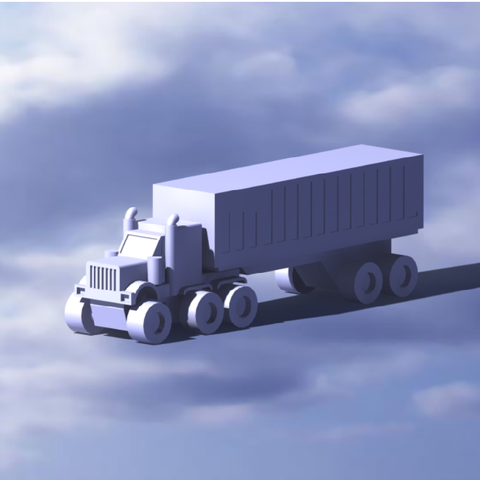 66666.png Download STL file American truck • 3D print design, Mechanic