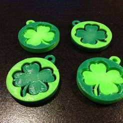 Download free 3D printer files Shamrock Key Tags / Pendants, SimSimona