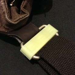 Download free 3D print files Clips for fixing twisted bag strap! (OpenSCAD), SimSimona