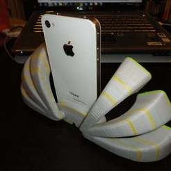 Download free 3D printer model iFan - iPhone Dock that looks like a fan (or peacock?), SimSimona