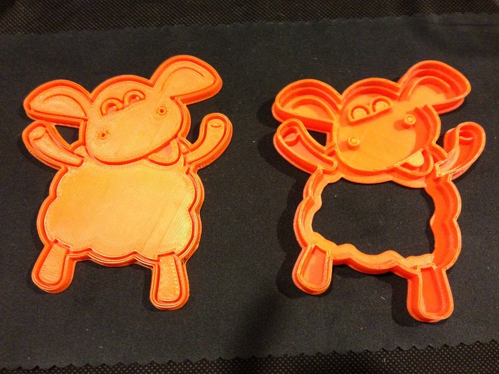 Download Free Stl File Timmy Time Sheep Cookie Cutter Design To 3d Print Cults