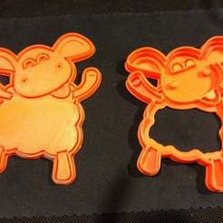 Download free STL files Timmy Time Sheep Cookie Cutter, SimSimona