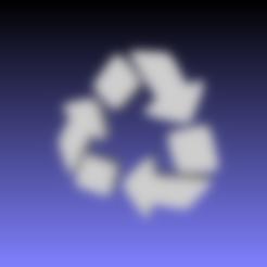 Emoji_u267b.stl Download free STL file Recycling emoji • 3D printing template, tom-harder-sec