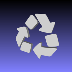 Download free 3D printing models Recycling emoji, tom-harder-sec
