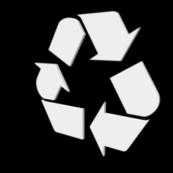 Free 3D printer model universal recycling logo, tom-harder-sec