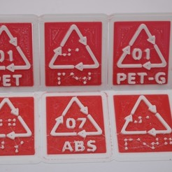 Download 3D printing files ABS RECYCLING CODE AND LABEL: PRINT AND BRAILLE LETTERS, tom-harder-sec