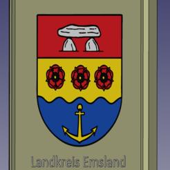 Download 3D printer designs Coat of Arms Emsland / Wappen vom Kreis Emsland, tom-harder-sec