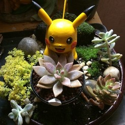 Download 3D printer templates Pikachu Planter, kirinazul