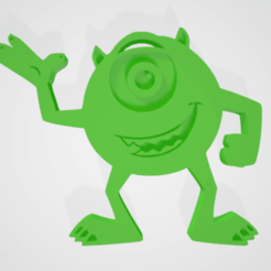 MIKE WAZOWSKI 2.png Download STL file Mike Wazowski • 3D print design, natuwu