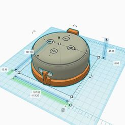 Capture.JPG Download STL file Wall bracket Alexa echo Dot 3 • Model to 3D print, glasimir