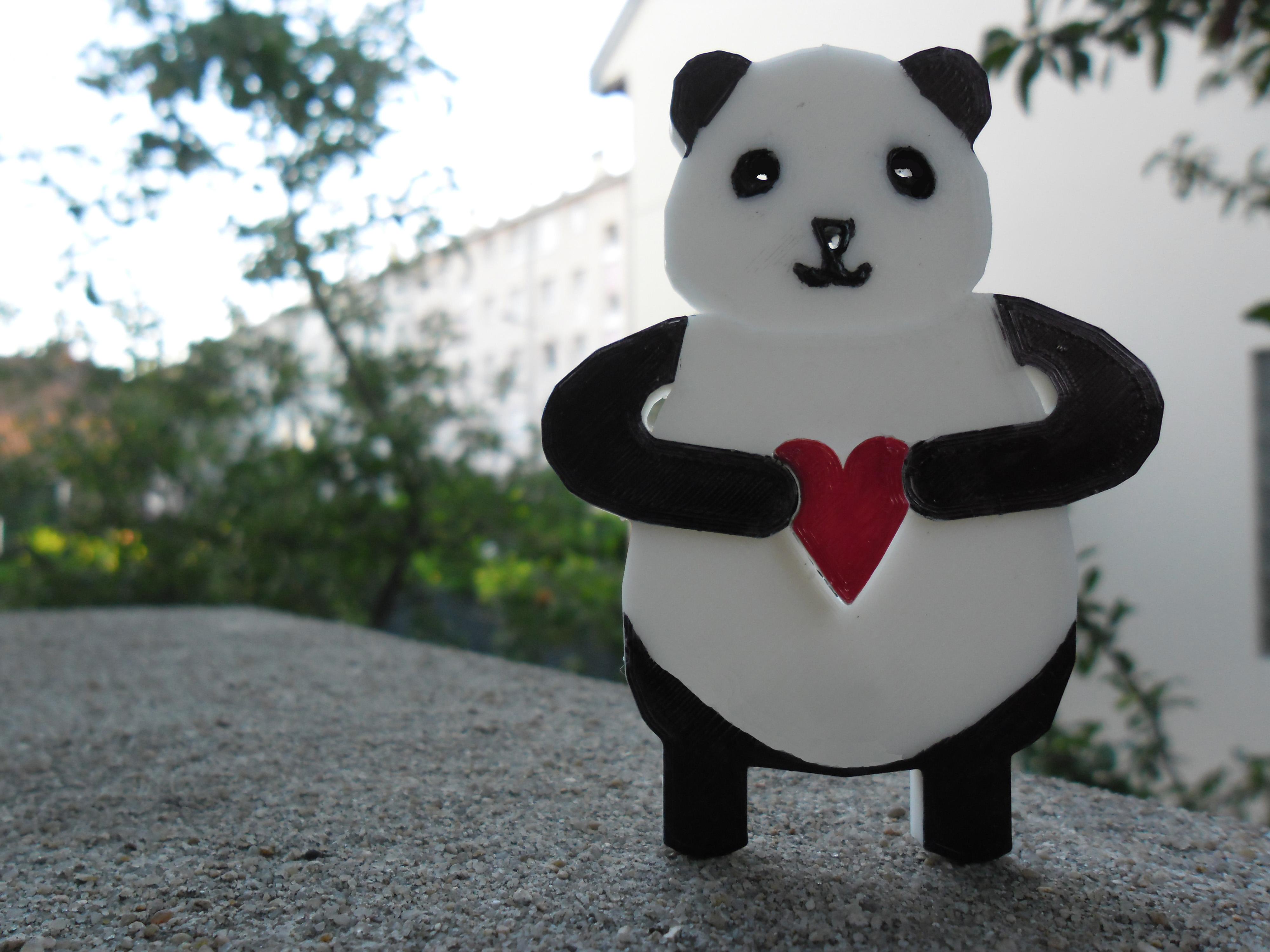 SAM_3825.JPG Download free STL file Panda Keyholder • 3D printer template, teambenjamin