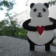 Download free 3D printer designs Panda Keyholder, teambenjamin