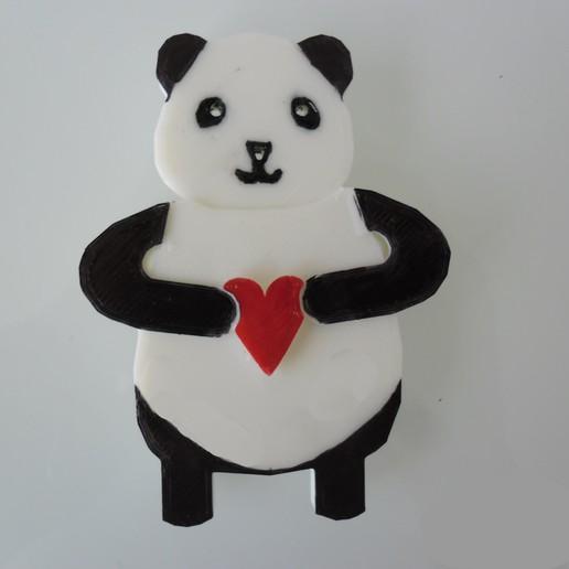 SAM_3822.JPG Download free STL file Panda Keyholder • 3D printer template, teambenjamin