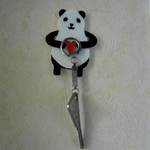 Download free 3D printer designs Panda Keyholder, benjaminjujun