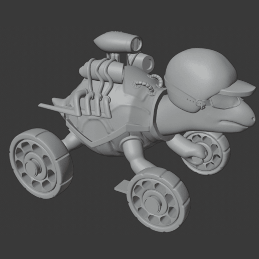 TurtleDetailed.png Download free STL file Racing turtle (MOVABLE WHEELS) • Object to 3D print, jonathanworkevans
