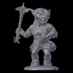 Goblin.png Download STL file Goblin (Dungeons and dragons tabletop miniature) • Design to 3D print, jonathanworkevans