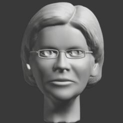 Warren head.png Télécharger fichier STL Elizabeth Warren • Design à imprimer en 3D, jonathanworkevans