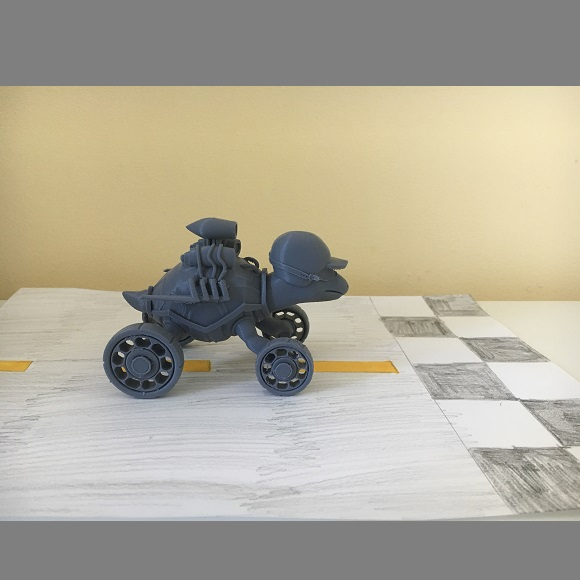 IMG_4044.JPG Download free STL file Racing turtle (MOVABLE WHEELS) • Object to 3D print, jonathanworkevans