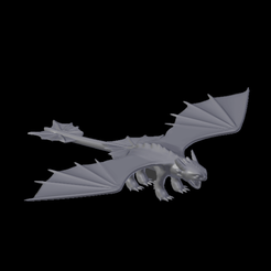 Toothless.png Download STL file Toothless (Night fury)  • 3D printing model, jonathanworkevans