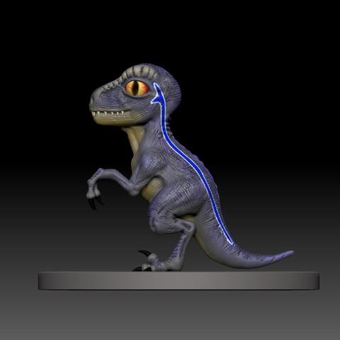 2.jpg Télécharger fichier STL gratuit dino blue 3d print • Design imprimable en 3D, mark_nato