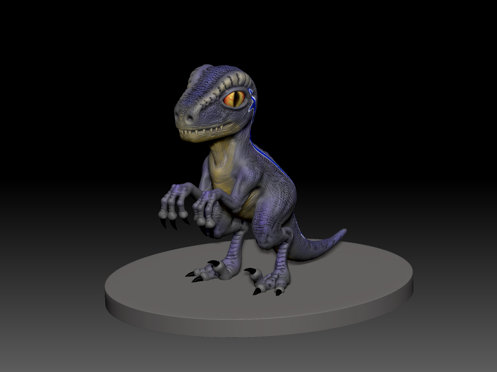 1.jpg Télécharger fichier STL gratuit dino blue 3d print • Design imprimable en 3D, mark_nato