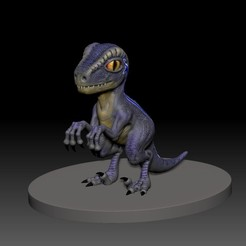 Download free 3D printer model dino blue 3d print, mark_nato