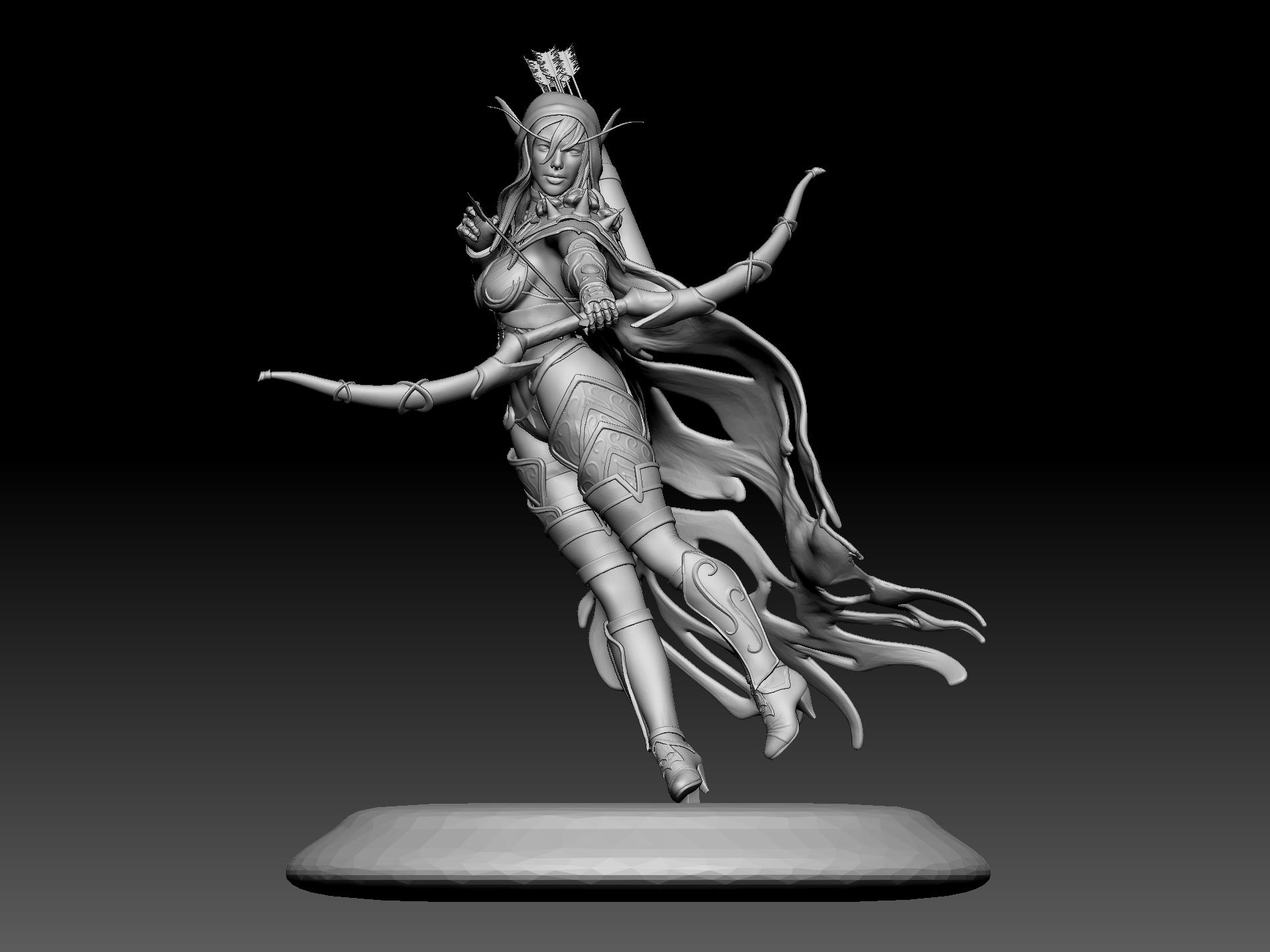 11.jpg Download STL file Sylvanas 3D print • Design to 3D print, mark_nato